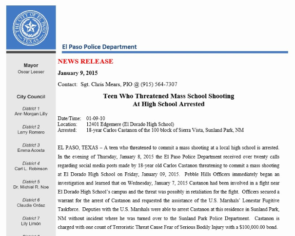 EPPD+News+Release+on+Threat+to+EDHS