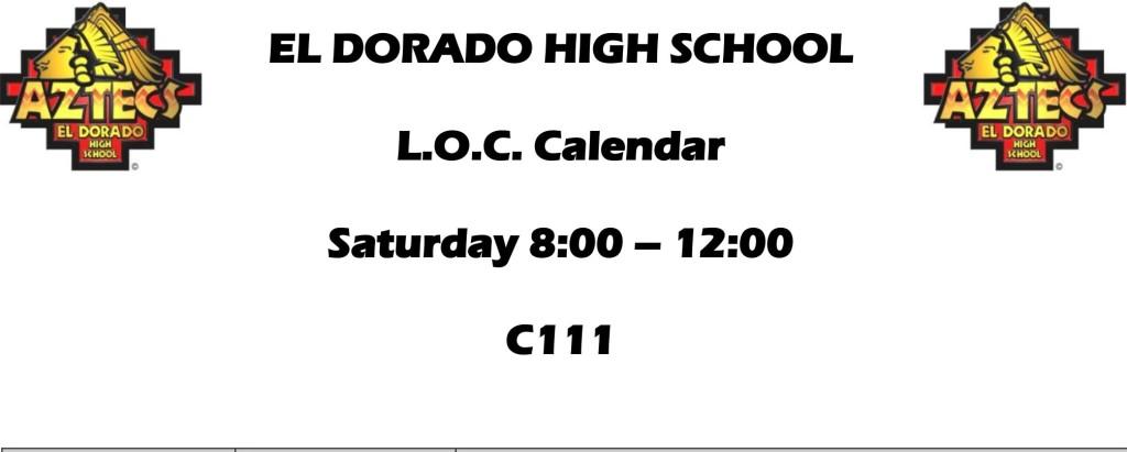 LOC - Saturday Schedule
