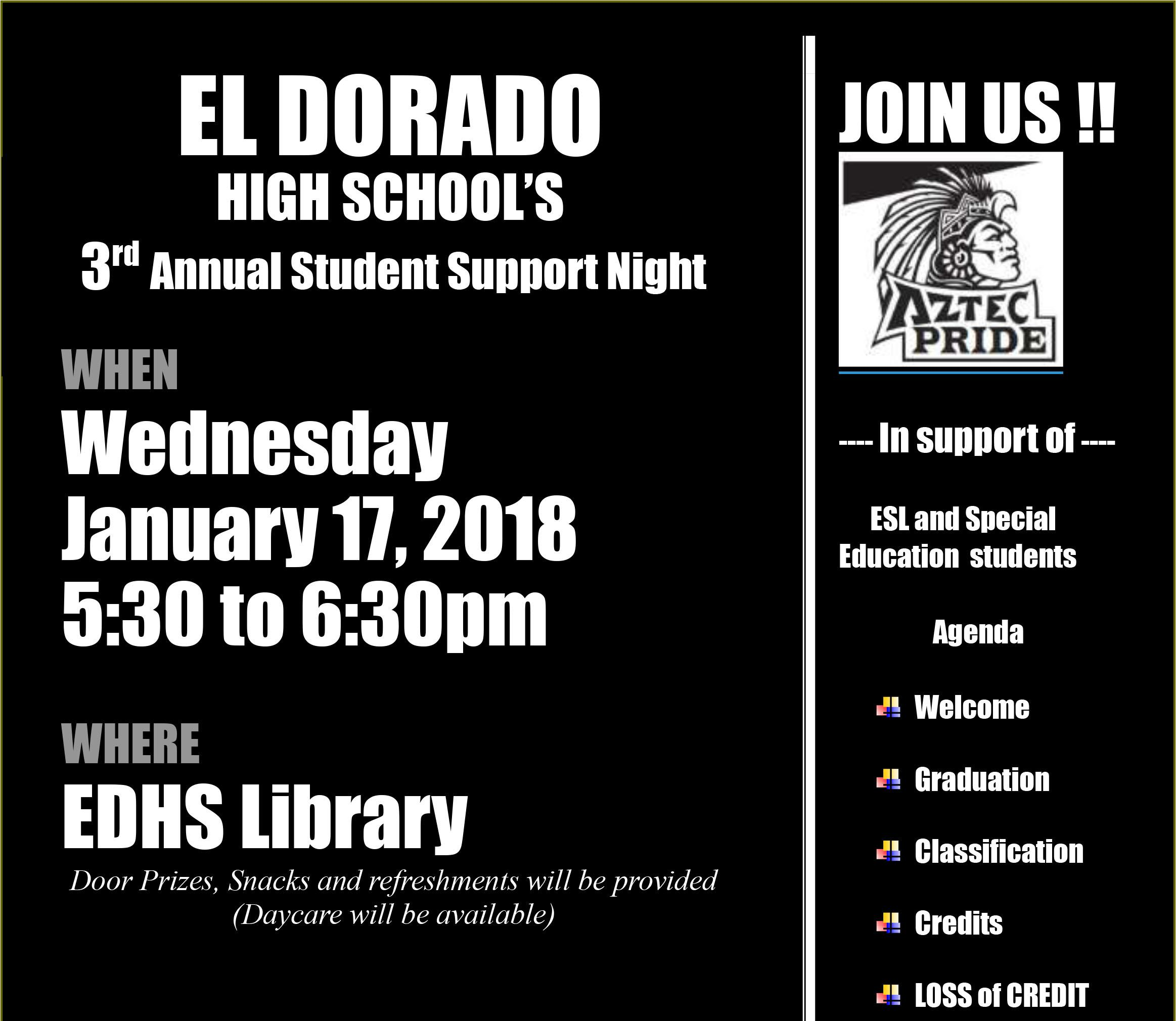 Student Support Night
