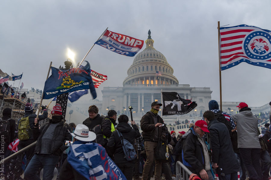 The United States Capitol was overrun by violent Trump supporters on Jan. 6, 2021.