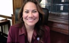 Veronica Escobar, U.S. Congresswoman from Texas, visits with students in an EPCC webinar about her experience at the Capitol on Jan. 6, 2021.