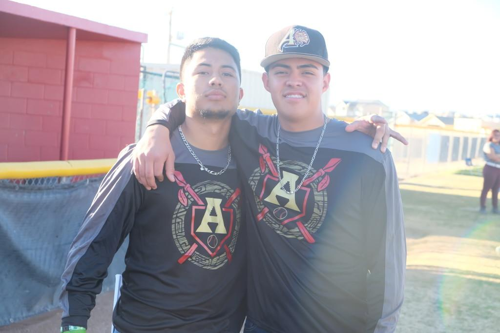 Marcos+and+Zay+show+brotherhood+for+all+baseball+aztecs