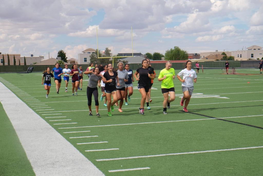 Aztecs running