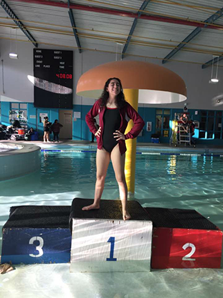 Aztec Profiles: Myranda Castillo/Sophomore swimmer aims for regionals again