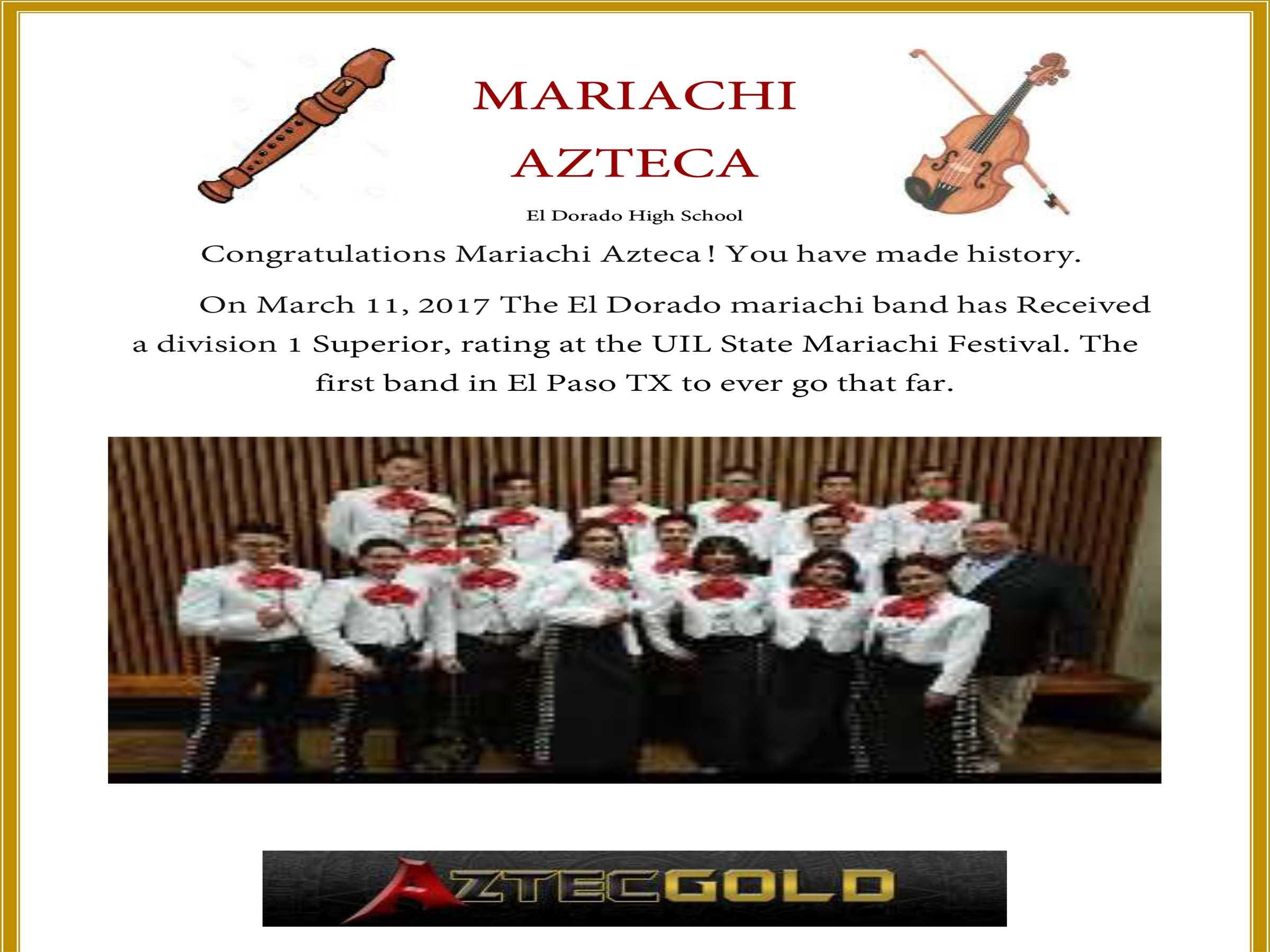 Winning Mariachi!!!