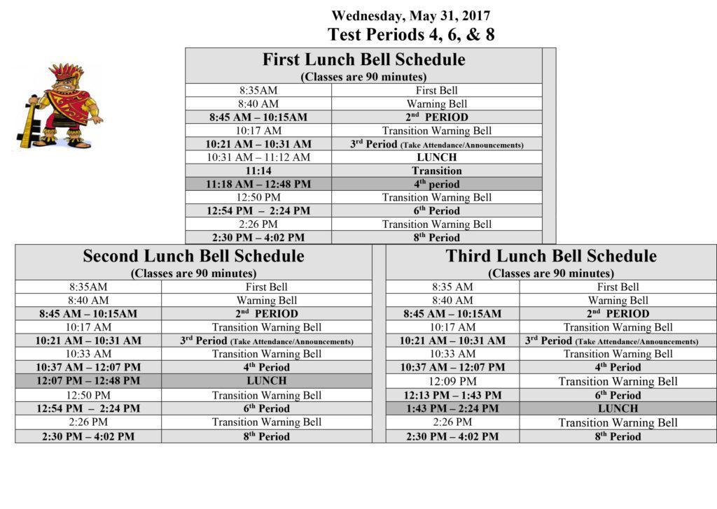 Spring 2017 Finals Bell Schedule 1