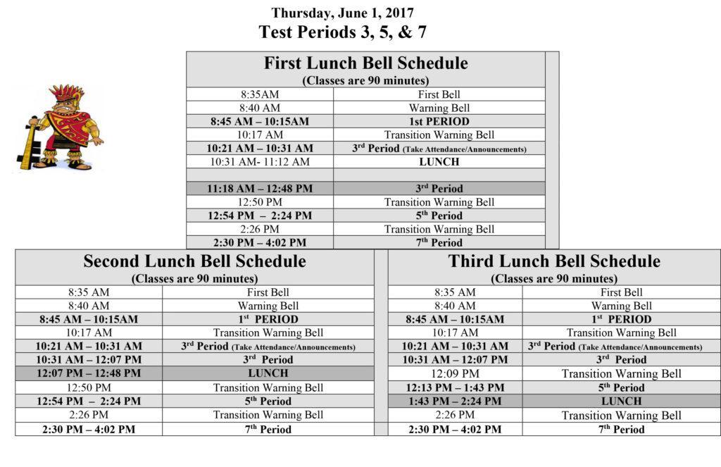 Spring 2017 Finals Bell Schedule 2