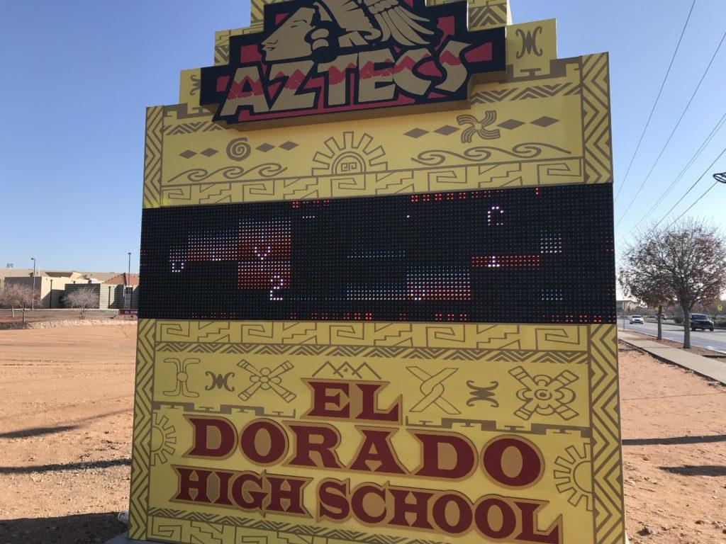 The New El Dorado High School Marquee