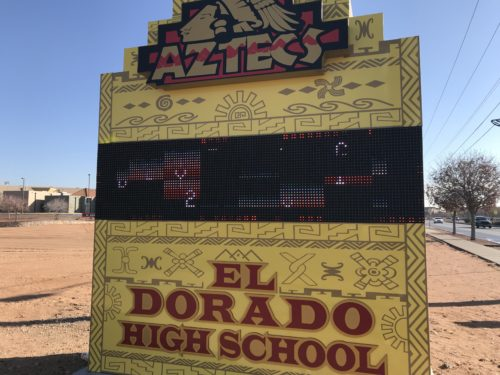 The New El Dorado High School Marquee