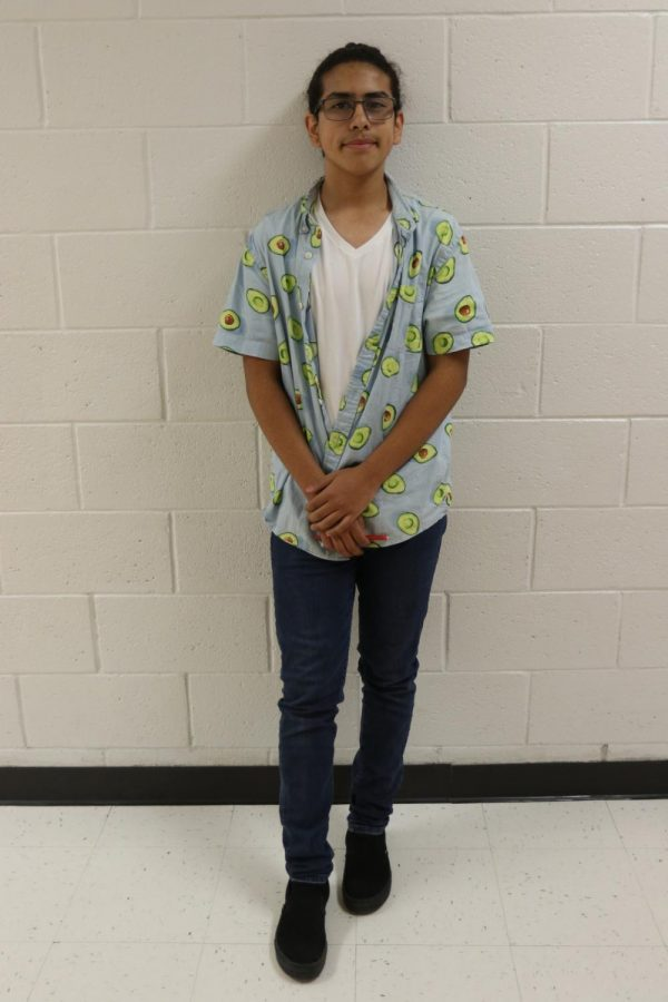 """""""My brother just graduated and he was really into school spirit so i got it from him,"""" freshmen Angel Ortiz said."""