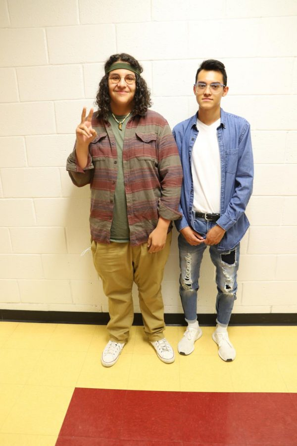 """""""Decades day was one of my favorites because I relate to other generations more than my own,"""" senior Jeremy Rodriguez said."""