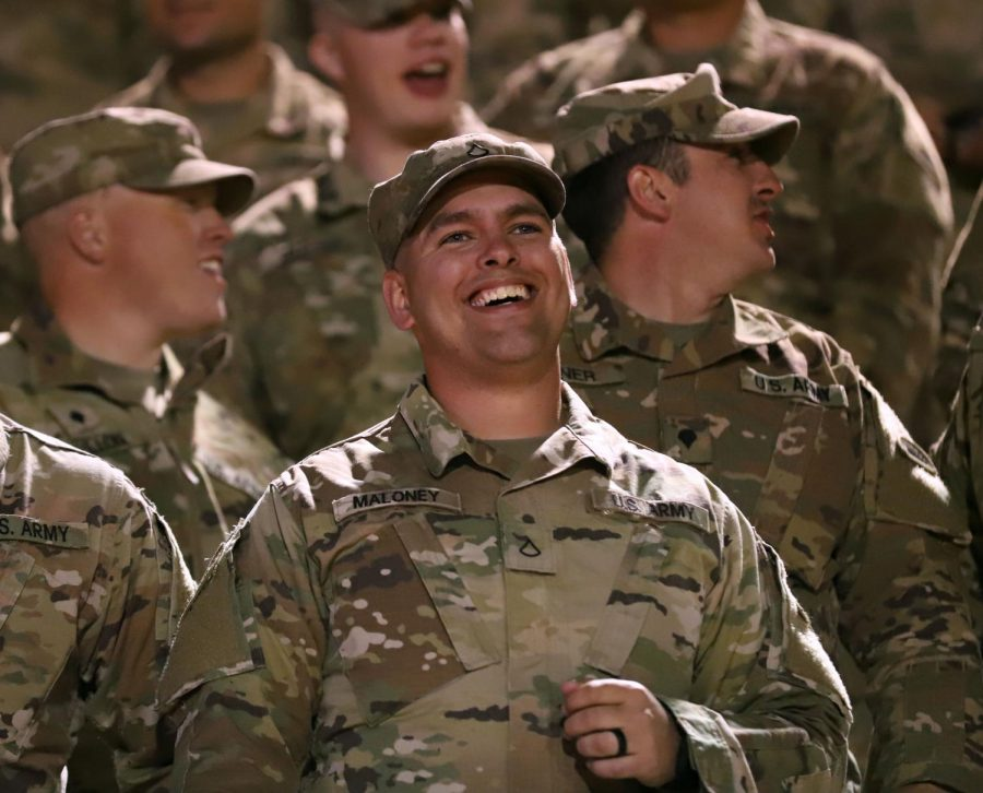 Aztecs celebrate soldiers at Military Night